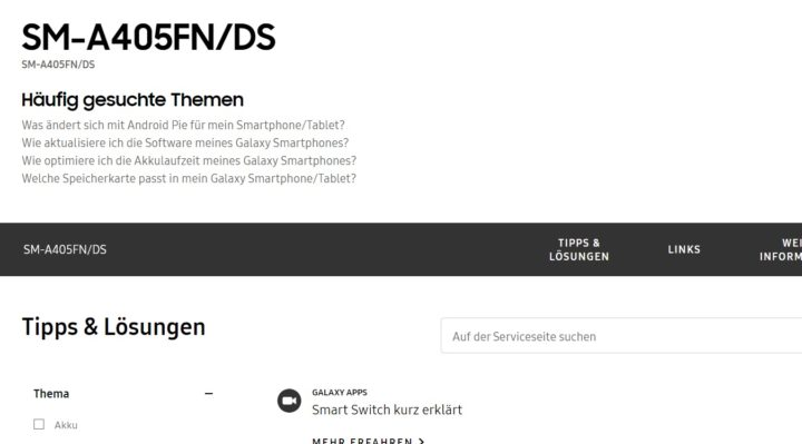 samsung galaxy a40 support germany